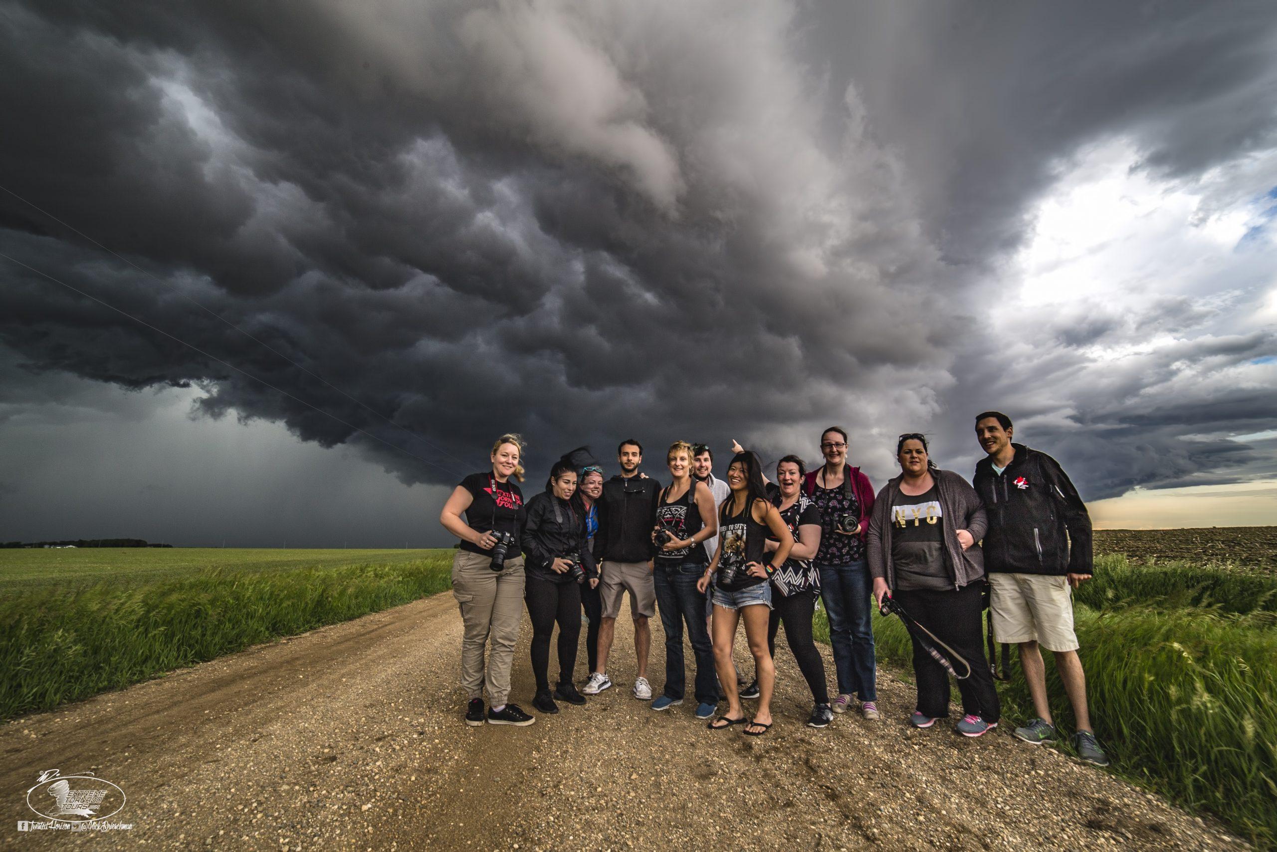 ETT Tour Guests Enjoying a Storm
