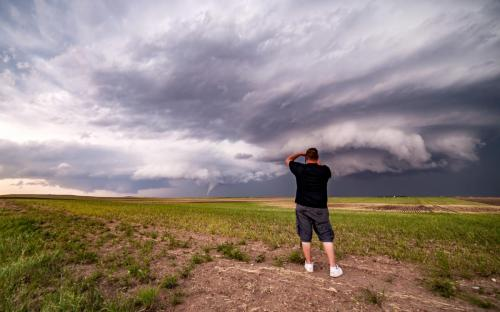 Nick Photographing Colorado Tornado