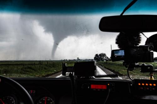 Charlie Texas Tornado Windshield View