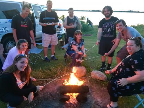 Tour Guests Campfire